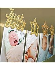 Baby Photo Banner for Newborn to 12 Months Birthday Banner Decor First Birthday Decorations Monthly Milestone Photograph Bunting Garland SEA STAR
