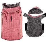 JoyDaog - Felpa con cappuccio per cani di piccola taglia, super calda, per cani invernali, colore: Rosa S