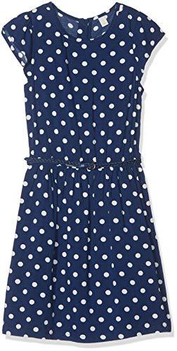 ESPRIT KIDS Mädchen Rp3007507 Woven Dress Kleid, Blau (Marine Blue 446), 152 (Herstellergröße: M)