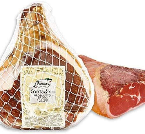 Fiorucci, Prosciutto crudo contadino senza osso 5kg, diviso in 2 tranci sottovuoto
