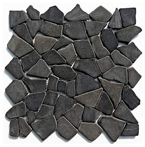 Mosaikfliesen Naturstein - M-001 - Marmormosaik Bruchsteinmosaik Marmor Wandfliesen Bodenfliesen - Fliesen Lager Verkauf Stein-mosaik Herne NRW
