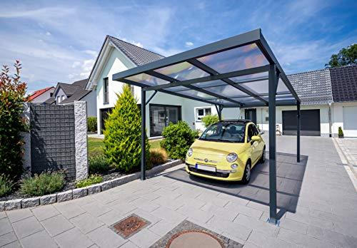 Gutta Carport Premium | 3094 x 5620 mm | Weiß (Acryl klima blue)