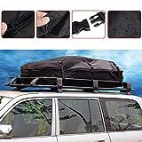 Trois tailles de sac de toit étanche600D Trois capacité 380L/560L/790L,Coffre de toit pliable avec 6sangles renforcées, pour toutes les voitures avec porte-bagages ou rails nécessaires,160x110x45CM
