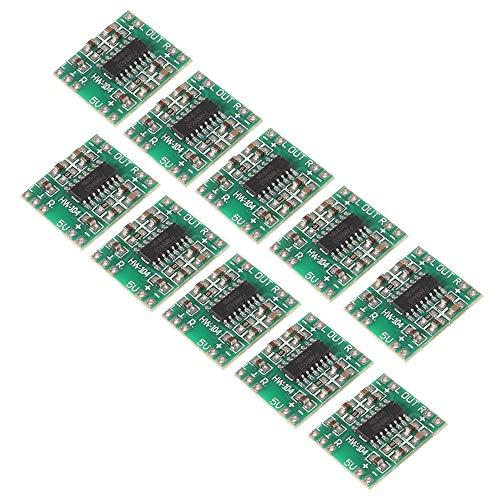 AITRIP 10 pcs Mini PAM8403 2 3W Class D Digital Amplifier Board 2.5-5V USB Power Supply