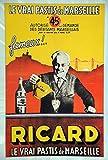 Ricard Pastis Marseille Kunstdruck Poster, Format 50 x 70