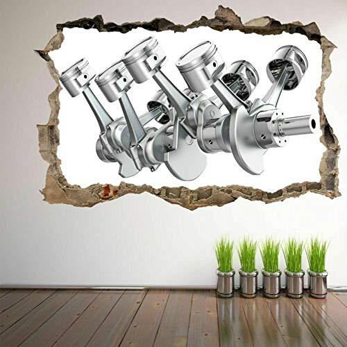 WYLD MuurstickerSnake Auto motor zuiger krukas 3D muur Sticker muurschildering Decal Garage Decor