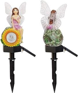AVEKI Solar Garden Stake Lights, 3D Sunflower Fairy Solar Garden Decor Yard Landscape Light with White Light and 7 Color C...