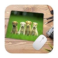 スモールマウスパッド22x18CM / 25X20CM / 25X29CMパッドかわいい犬パターンオフィスデスクマット-Size 22x18cm2-Locking edge