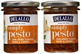 Delallo Simply Pesto Sun-Dried Tomato, Basil, Cheese 6.3 Ounce  (Pack of 2)