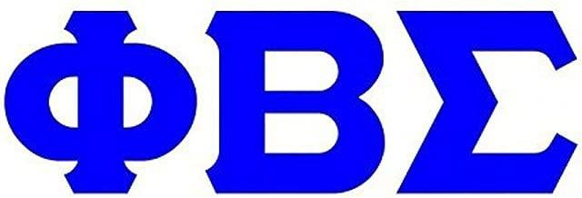 Phi Beta Sigma Big Greek Letter Window Sticker Decal 4 Inches Royal Blue