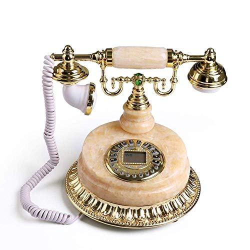 Schön Upgrade Telefon, Telefon Telefon Marmor Antike Europäische Fixed Telefon Retro Festnetz Home Festnetz Incoming Backlit Antialectromagnetischer Interferenz Wecker Eingehender Anrufer ID Vintage T