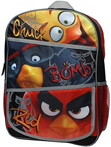 Angry Birds Flock of the Block Chuck, Bomb and rot Backpack with Side Mesh Po... by Accessory Innovations