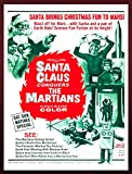 "8339.Decoration 22""x28"" Poster Reproduction Printed on Canvas Santa Claus The Martians"