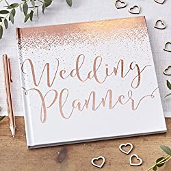 This rose gold wedding planner book is a perfect gift for the bride to be Wedding Planner contains 46 pages Model number: White & Rose Gold Foiled Wedding Country of origin is China