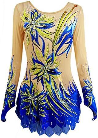 LIUHUO Rhythmic Max 61% OFF Leotards Dress Blue Girls Gymn Children shop Artistic