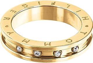 Tommy Hilfiger Jewelry Classic Signature Bague pour femme en acier inoxydable Taille 58 2700964E 18.5