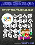 Dinosaurs Coloring Kids Ages 8: Activity And Coloring Book 55 Funny Corythosaurus, Dna, Dna, Triceratops, Fossil, Nodosaurus, Footprints, Ichthyosaurus For Painting Image Quizzes Words