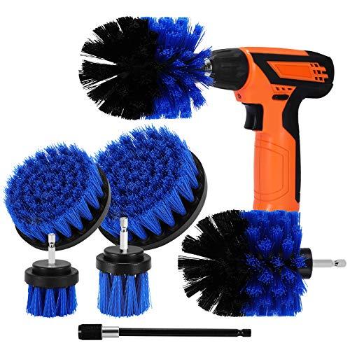 Cepillo de Taladro Eléctrico, Aiglam Drill Brush, 7 Piezas Taladro Eléctrico Cerda Suave para Limpiar Baño, Piso, Azulejo, Esquinas, Cocina