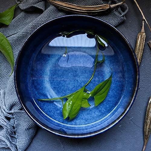 Porselein Salade/Soup Bowl - kommen for Pasta en Fruit Stackable Ronde Groot, Blue
