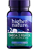 Higher Nature Omega 3 Fish Oil Capsules, Pack of 180