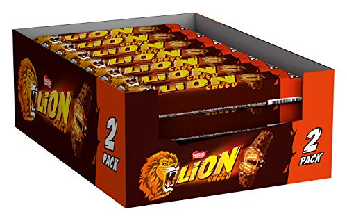 Lion 2-pack chocoladereep melkchocolade- doos met 28 candybars (28×60 gam)