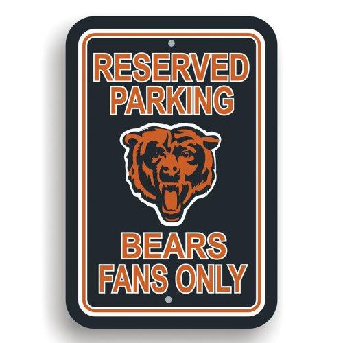 Fremont Die NFL Parkplatzschild aus Kunststoff, 90201, Chicago Bears, 12 x 18