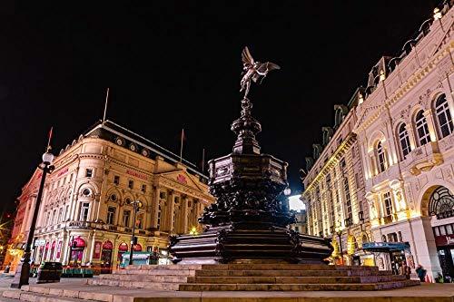 MX-XXUOUO Puzzles, London England Shaftesbury Memorial Brunnen, Statue Eros, UK schöne natürliche und menschliche Landschaften, 1000 Stück, 75x50cm