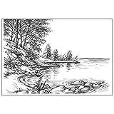 YU-HELLO _River Bank Lake - Sello de silicona transparente para álbum de recortes, decoración