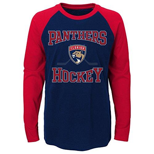 Outerstuff NHL Jungen Morning Skate Langarm-T-Shirt, Jungen, True Navy, 14-16 Years