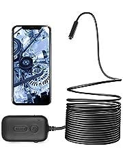 Zacro 5m Endoscopio Inalámbrico Inspección 8 LED,3 Zooms 2M Pixel Endoscopio Camara Impermeable IP67 para iOS, Android,Smartphones,Tableta