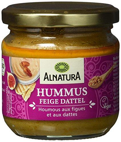 Alnatura Bio Aufstrich Hummus Feige Dattel, vegan, 6er Pack (6 x 180 g)