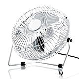 CSL - USB Ventilador/Fan | Ventilador de Mesa | Carcasa/aspas de Metal | PC/portátil | en Blanco
