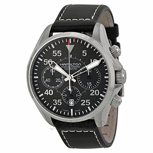 Gifts and Jewels Co. Hamilton Hamilton caqui Aviación Piloto Automático Chrono Reloj H64666735