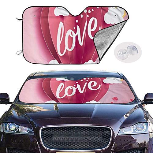 HHJJI Ove Einladungskarte Valentine Hintergrund Windschutzscheibe Sonnenschutz Visier - Popkultur Neuheit Autozubehör Auto Sonnenschutz UV-Schutzschild Auto Fenster Windschutzscheibe Kühler LKW SUV (5