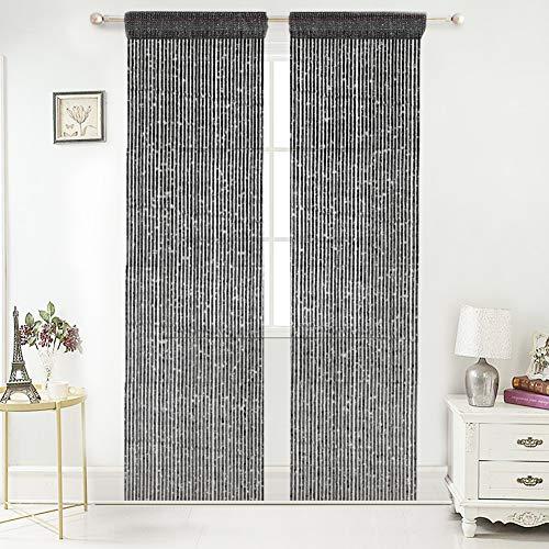 Door String Curtain for Closets Panel Door Bead Curtain Beaded Curtain Tassel Curtain Room Divider Door Tassel Curtains