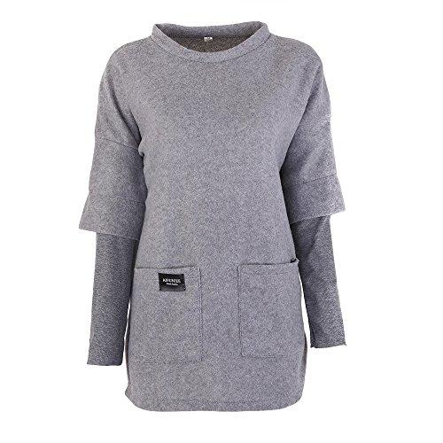 Yalatan Autumn Women Fashion Pockets Loose Outerwear Long Hoodies Sweatshirt Fleece Jacket