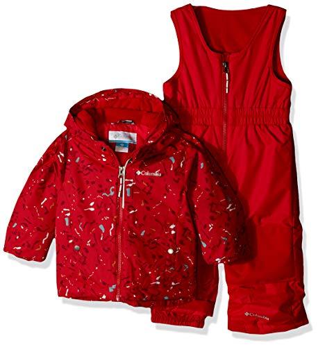 Columbia Kids' Little Frosty Slope Set, Mountain red Splatter, XX-Small