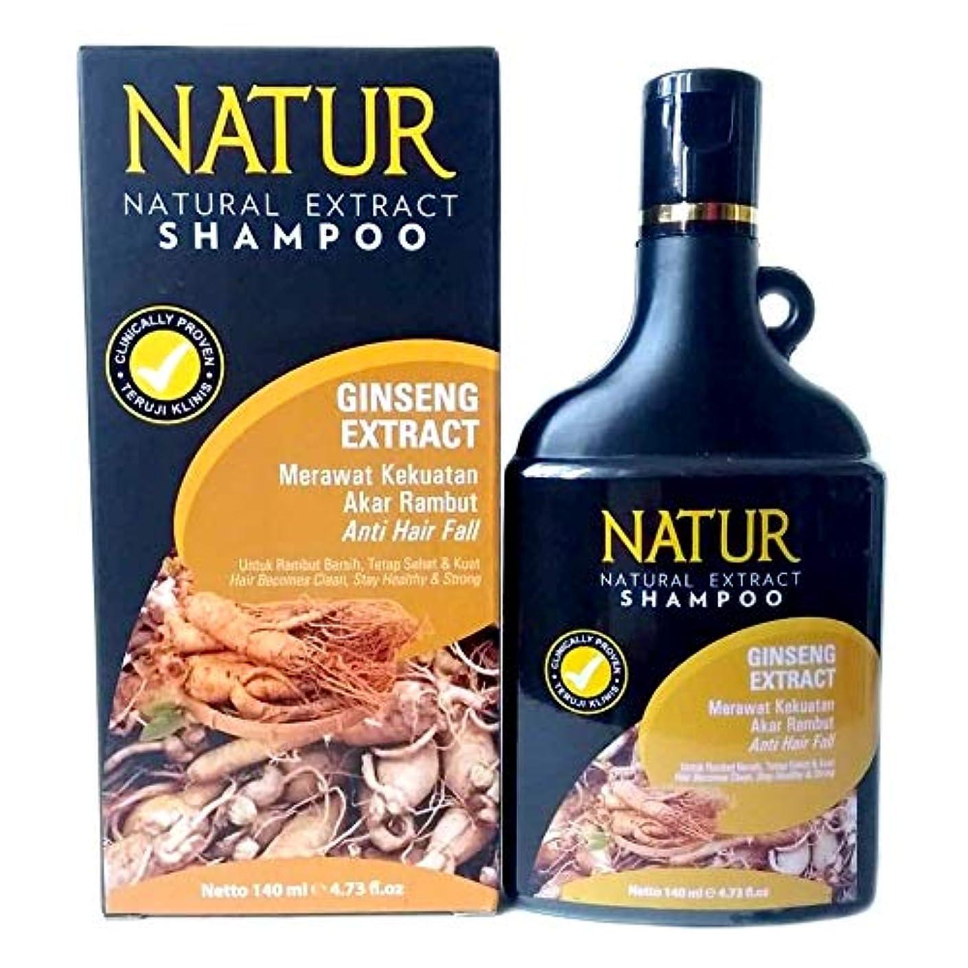 ずらす著名な名前でNATUR ナトゥール 天然植物エキス配合 ハーバルシャンプー 140ml Ginseng ジンセン [海外直商品]
