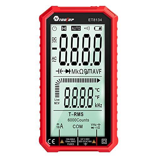 Digital Multimeter,4.7 Inch Screen Multimeter Tester, TRMS 6000 Counts Voltmeter ,Auto-Ranging, NCV, Measures AC/DC Current, Voltage, Resistance, Diodes, Electrical Battery Tester, Flashlight