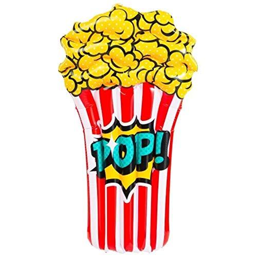 YIIVAN 110 cm Popcorn Bambini Piscina Gonfiabile Galleggiante Lie-on Isola Galleggiante Gonfiabile Materasso Nuoto Fondale per Giocattoli da Spiaggia