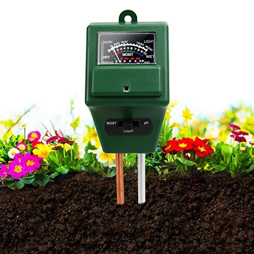 Soil pH Meter,3-in-1 Soil Moisture/…