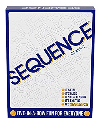 Sequence- Original Sequence Game with Folding Board, Cards and Chips by Jax ( Packaging May Vary ) White by Jax Ltd Inc