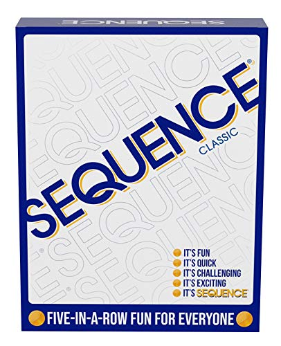 SEQUENCE Original SEQUENCE Game with Folding Board Cards and Chips by Jax  Packaging may Vary  White 103quot x 81quot x 231quot