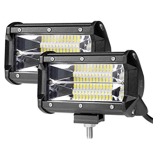 Wiilpower 5 Zoll 72W LED Arbeitslichtleiste Überflutung Wasserdichte LED Nebel Nebelscheinwerfer 6000K Weiße LED Pods für Motorrad Offroad Boot Fahrzeug LKW ATV-2 Stücke