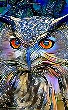 Notebook: art owl bird owls wildlife predator hunter bird of prey