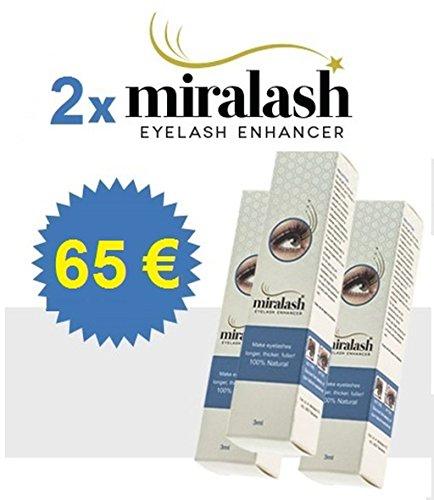 2x Miralash 3 ml Conditioner für Wimpern lange dichte Wimpern SERUM