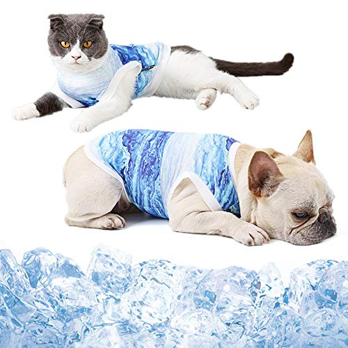 Dog Cooling Vest, Breathable Cooling Jacket for Dog Anxiety Relief Sun Protection, Soft Dog Cool Coat for Small Medium Dogs/Cats Outdoor Walking Training Hiking on Summer, X-Large