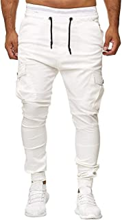 FRC0LT New! Mens Hipster Hip Hop Panelled Loose Fit Zipper Decor Casual Sports Pants