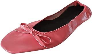 Sherostore ♡ Womens Foldable Ballet Flats Slip-On Ballet Comfort Walking Classic Round Toe Shoes Dance Shoes for Girls