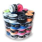 Alien Pros Grip per racchetta da tennis (60 grips) – Pre-tagliata e leggera – Surgrip per racchetta da tennis – Coprite la tua racchetta per migliori prestazioni (60 grips)